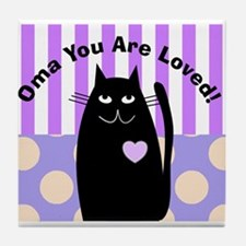 Oma you are loved 1 Tile Coaster