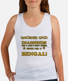 Bengal cat vector designs Women's Tank Top