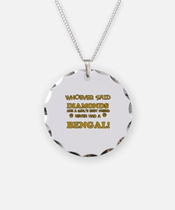 Bengal cat vector designs Necklace