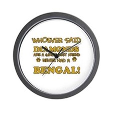 Bengal cat vector designs Wall Clock