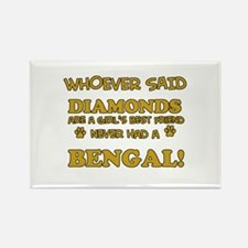 Bengal cat vector designs Rectangle Magnet