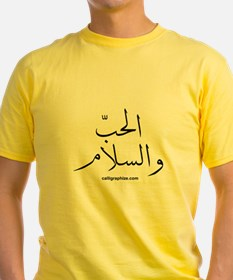 Love and Peace Arabic T
