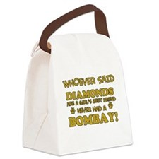 Bombay cat vector designs Canvas Lunch Bag