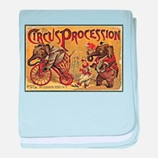 The Circus Procession baby blanket