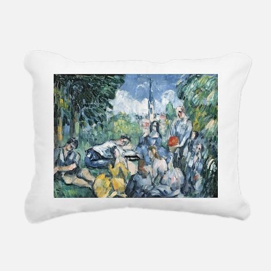 876 77 @oil on canvasA - Rectangular Canvas Pillow