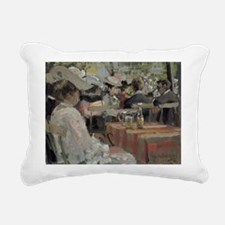 906 @oil on cardA - Rectangular Canvas Pillow
