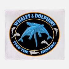 Whales And Dolphins Throw Blanket