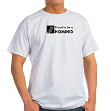 Proud Hominid Ash Grey T-Shirt