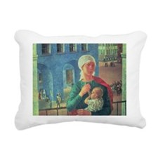 0 @oil on canvasA - Rectangular Canvas Pillow