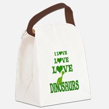 Love Love Dinosaurs Canvas Lunch Bag