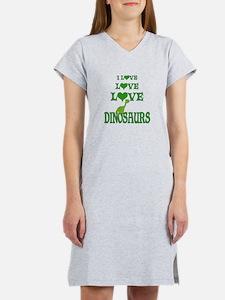 Love Love Dinosaurs Women's Nightshirt