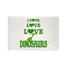Love Love Dinosaurs Rectangle Magnet