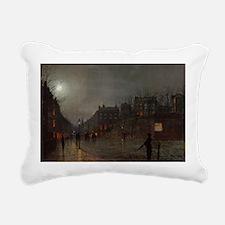 82 @oil on boardA - Rectangular Canvas Pillow