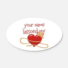 Lasso My Heart Oval Car Magnet