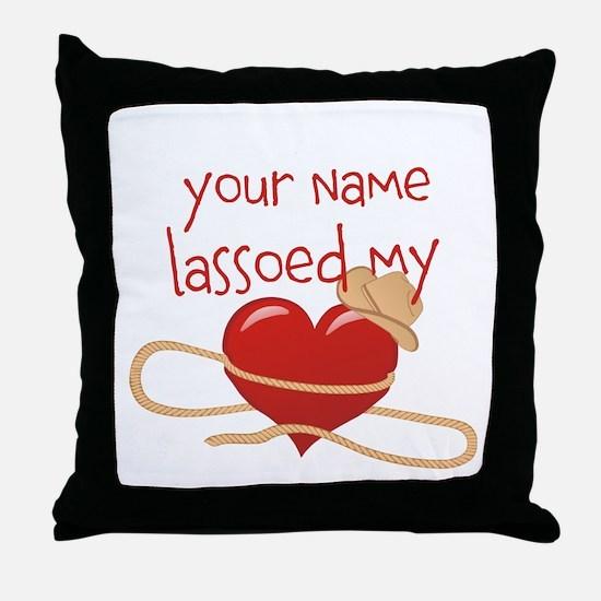 Lasso My Heart Throw Pillow