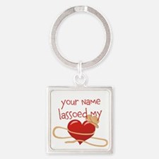 Lasso My Heart Square Keychain
