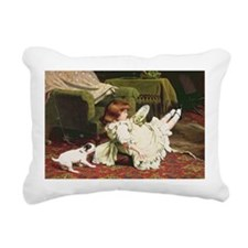 Time to Play, 1886 - Rectangular Canvas Pillow