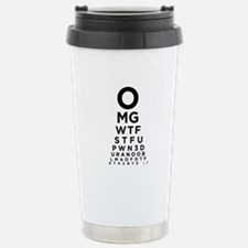 Texting Eye Chart Travel Mug