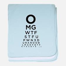 Texting Eye Chart baby blanket