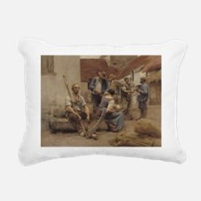 1882 @oil on canvasA - Rectangular Canvas Pillow