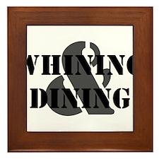 Whining & Dining Framed Tile