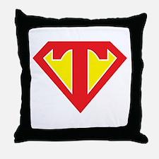 Super T Throw Pillow