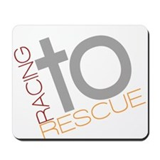 Racing To Rescue Logo Mousepad