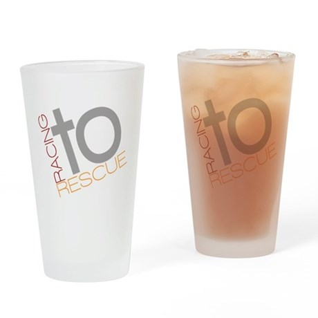 Racing To Rescue Logo Drinking Glass