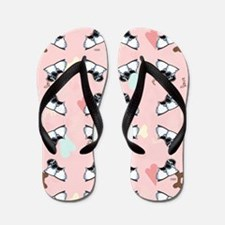 Puppy Love Cocker Spaniel Pink Flip Flops