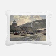 s @oil on canvasA - Rectangular Canvas Pillow
