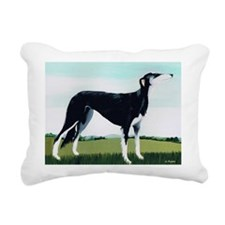 rylic on canvasA - Rectangular Canvas Pillow