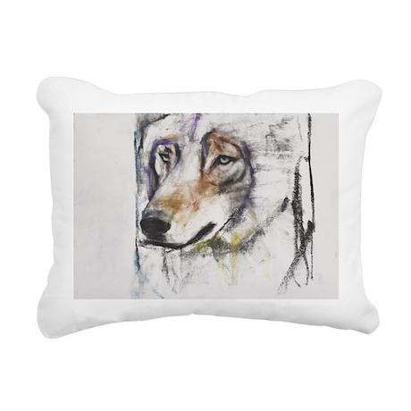 d media on paperA - Rectangular Canvas Pillow