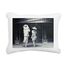 tside a Restaurant - Rectangular Canvas Pillow