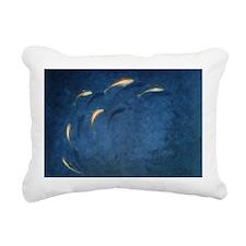 Goldfish Pool - Rectangular Canvas Pillow