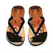 Giraffe Love Flip Flops
