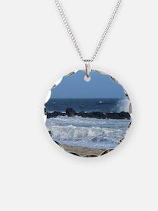 Ocean Beach Rocks Cape May Shower Curtain Necklace