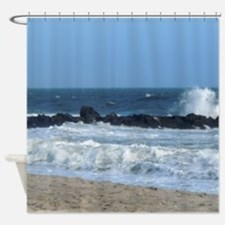 Ocean Beach Rocks Cape May Shower Curtain Shower C