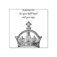 "Ego Crown Keep Calm Square Sticker 3"" x 3"""