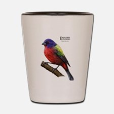 Painted Bunting Shot Glass