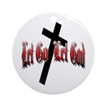 Let Go Let God Ornament (Round)