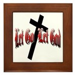 Let Go Let God Framed Tile