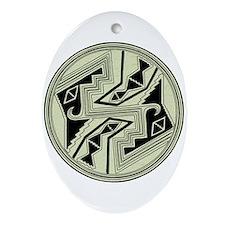 Mimbres Design 5 Oval Ornament