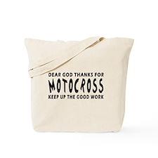 Dear God Thanks For Motocross Tote Bag