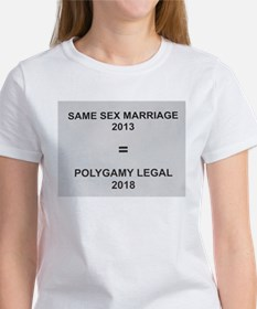 Same sex marriage = polygamy legal T-Shirt