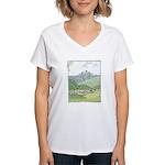 Lab Mountain Doodle Women's V-Neck T-Shirt