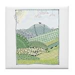 Lab Mountain Doodle Tile Coaster