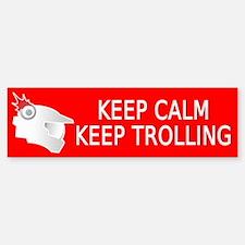 Keep Calm and Keep Trolling Bumper Bumper Bumper Sticker