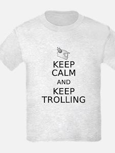 Keep Calm and Keep Trolling Kid's Light T-Shirt