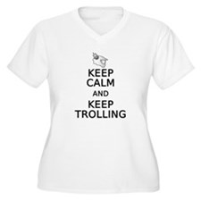 Keep Calm and Keep Trolling Plus Size V-Neck