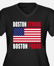 Boston Strong Women's Plus Size V-Neck Dark T-Shir